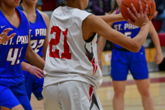 CIAC Girls Basketball; Wolcott vs. St. Paul - Photo # 370