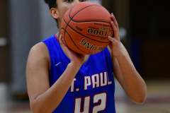 CIAC Girls Basketball; Wolcott vs. St. Paul - Photo # 382