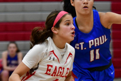 CIAC Girls Basketball; Wolcott vs. St. Paul - Photo # 411