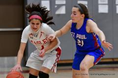 CIAC Girls Basketball; Wolcott vs. St. Paul - Photo # 413