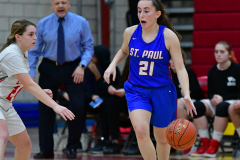 CIAC Girls Basketball; Wolcott vs. St. Paul - Photo # 444