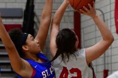 CIAC Girls Basketball; Wolcott vs. St. Paul - Photo # 450