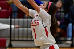 CIAC Girls Basketball; Wolcott vs. St. Paul - Photo # 469