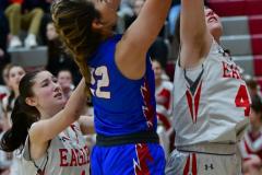 CIAC Girls Basketball; Wolcott vs. St. Paul - Photo # 483