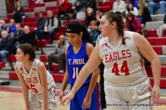 CIAC Girls Basketball; Wolcott vs. St. Paul - Photo # 494