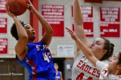 CIAC Girls Basketball; Wolcott vs. St. Paul - Photo # 501