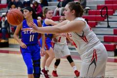 CIAC Girls Basketball; Wolcott vs. St. Paul - Photo # 510