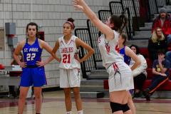CIAC Girls Basketball; Wolcott vs. St. Paul - Photo # 516