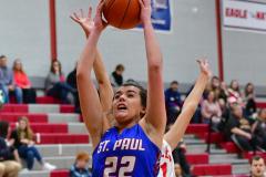 CIAC Girls Basketball; Wolcott vs. St. Paul - Photo # 520