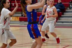 CIAC Girls Basketball; Wolcott vs. St. Paul - Photo # 004