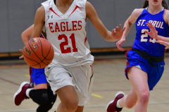 CIAC Girls Basketball; Wolcott vs. St. Paul - Photo # 019