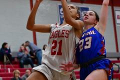 CIAC Girls Basketball; Wolcott vs. St. Paul - Photo # 033
