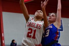 CIAC Girls Basketball; Wolcott vs. St. Paul - Photo # 034