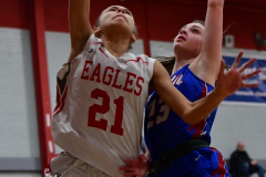 CIAC Girls Basketball; Wolcott vs. St. Paul - Photo # 035