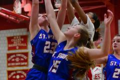 CIAC Girls Basketball; Wolcott vs. St. Paul - Photo # 043