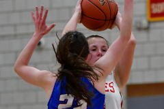 CIAC Girls Basketball; Wolcott vs. St. Paul - Photo # 047