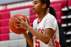 CIAC Girls Basketball; Wolcott vs. St. Paul - Photo # 053