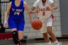 CIAC Girls Basketball; Wolcott vs. St. Paul - Photo # 064