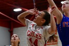 CIAC Girls Basketball; Wolcott vs. St. Paul - Photo # 070
