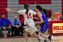 CIAC Girls Basketball; Wolcott vs. St. Paul - Photo # 092