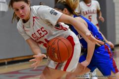 CIAC Girls Basketball; Wolcott vs. St. Paul - Photo # 102