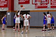CIAC Girls Basketball; Wolcott vs. St. Paul - Photo # 110