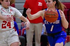 CIAC Girls Basketball; Wolcott vs. St. Paul - Photo # 113