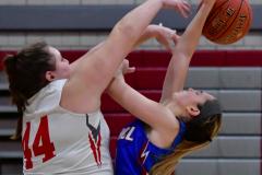 CIAC Girls Basketball; Wolcott vs. St. Paul - Photo # 115