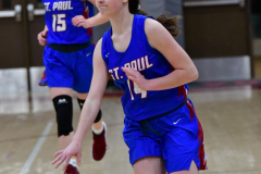 CIAC Girls Basketball; Wolcott vs. St. Paul - Photo # 123