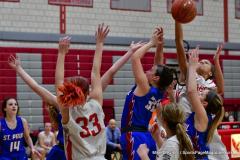 CIAC Girls Basketball; Wolcott vs. St. Paul - Photo # 127