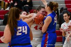 CIAC Girls Basketball; Wolcott vs. St. Paul - Photo # 138