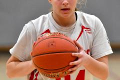 CIAC Girls Basketball; Wolcott vs. St. Paul - Photo # 146