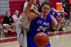CIAC Girls Basketball; Wolcott vs. St. Paul - Photo # 150