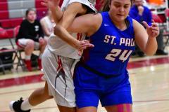 CIAC Girls Basketball; Wolcott vs. St. Paul - Photo # 151