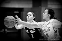 CIAC Girls Basketball; Wolcott vs. St. Paul - Photo # 152