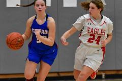 CIAC Girls Basketball; Wolcott vs. St. Paul - Photo # 161