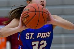 CIAC Girls Basketball; Wolcott vs. St. Paul - Photo # 169
