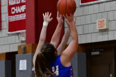 CIAC Girls Basketball; Wolcott vs. St. Paul - Photo # 175