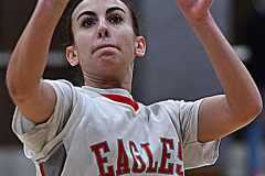 Gallery CIAC Girls Basketball; Wolcott vs. Holy Cross - Photo # 228