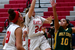 Gallery CIAC Girls Basketball; Wolcott vs. Holy Cross - Photo # 250