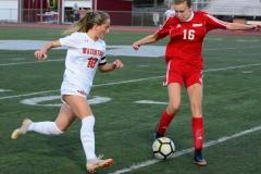 CIAC Girls Soccer; Wolcott vs. Watertown - Photo # 593