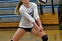 CIAC Girls Volleyball; Bristol Eastern vs. Farmington - Photo # 033