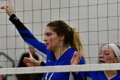 CIAC Girls Volleyball; Bristol Eastern vs. Farmington - Photo # 1020
