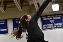 CIAC Girls Volleyball; Bristol Eastern vs. Farmington - Photo # 1023