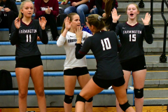 CIAC Girls Volleyball; Bristol Eastern vs. Farmington - Photo # 219