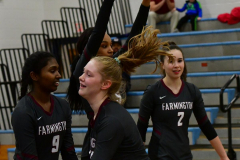 CIAC Girls Volleyball; Bristol Eastern vs. Farmington - Photo # 241