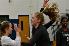 CIAC Girls Volleyball; Bristol Eastern vs. Farmington - Photo # 243