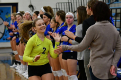 CIAC Girls Volleyball; Bristol Eastern vs. Farmington - Photo # 253