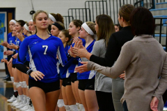 CIAC Girls Volleyball; Bristol Eastern vs. Farmington - Photo # 255