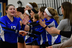 CIAC Girls Volleyball; Bristol Eastern vs. Farmington - Photo # 273